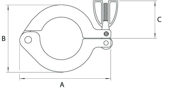 Aluminium Swing Clamp NW, KF